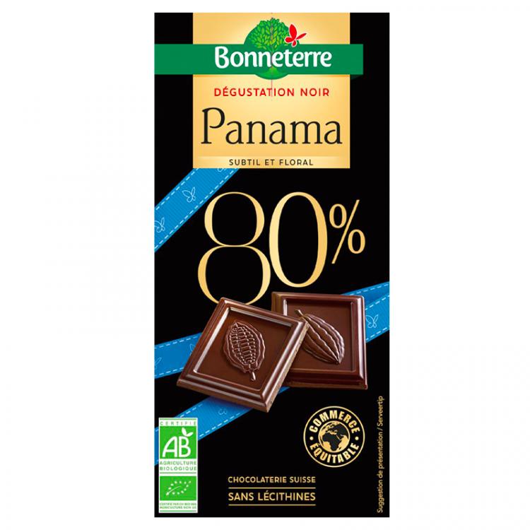 Chocolat noir Panama 80% BIO, 80g