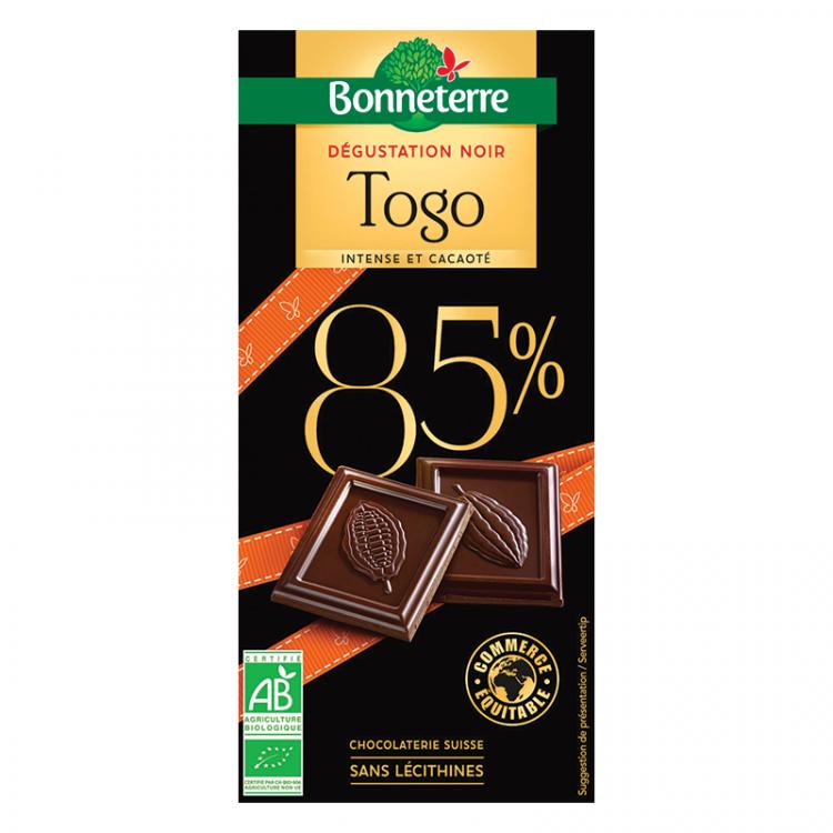 Chocolat noir dégustation Togo BIO, 80g